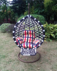 Foot Rest Style Outdoor Wicker Hanging Chair