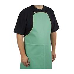 Plain Green Safety Rubber Apron, for Laboratory