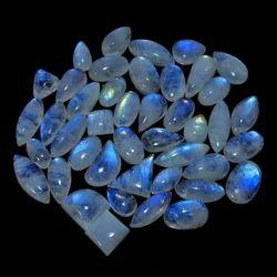 nanplanet银蓝色闪光彩虹月光石松宝石