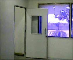 White Hinged Hospital Doors