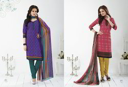 Crepe Salwar Dress Material