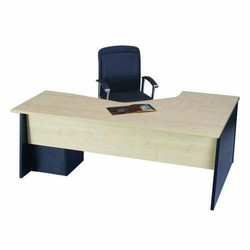 L Shape Executive Table With Pedestal Drawer