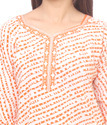 Orange Printed Kurti