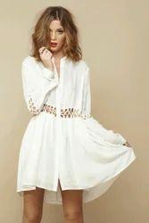 Smooth White Ladies Dress