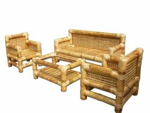 Standard Bamboo Sofa Set Rs 19500, Bamboo Sofa Set