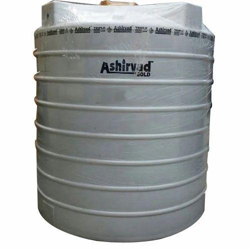 Triple Layer Lldpe 1000 Liter Ashirvad White Water Storage Tank Rs 6500 Piece Id 13196038873