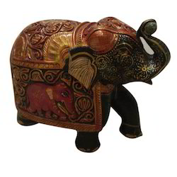 Jangid Art & Crafts Handcrafted Wooden Elephant for Home Decor