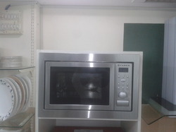 Microwave convection double oven
