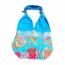 Women Shoulder Boho Kantha Stitch Work Bag