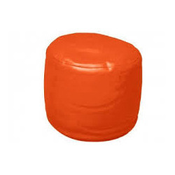 Round Puffy Orange Bean Bag