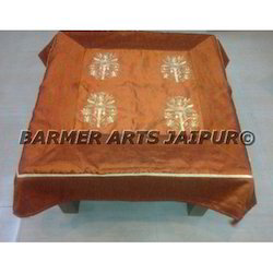 Designer Table Cover Silk Embroidery