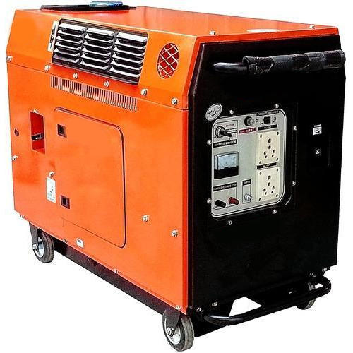 3 Phase Generator >> Three Phase Silent Portable Diesel Generator Power 7 5 Kva Rs