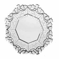 Natural Round Venetian Designer Mirror, Size: 30x30 inch