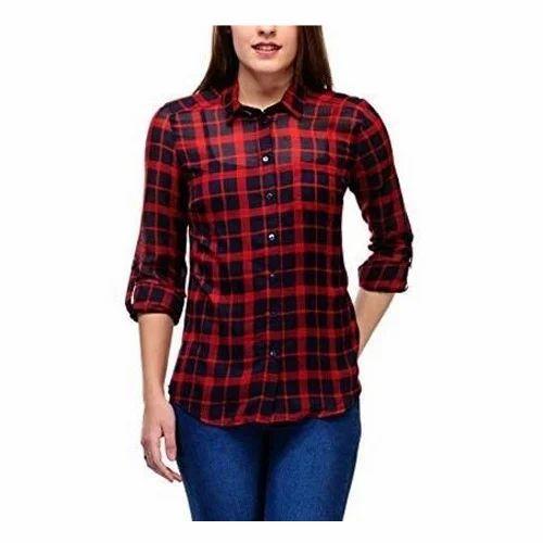 Ladies Check Shirt, Girls Check Shirt, Womens Check Shirt