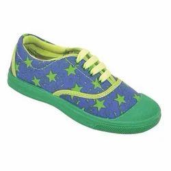 Kayvee Footwear Daily wear Kids Green Canvas Shoes