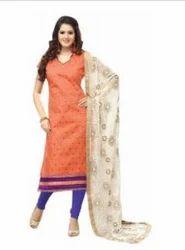 Manvaa Womens Orange Salwar Suit