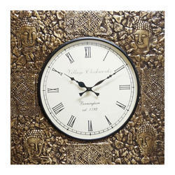 Designer Brass Wall Clock