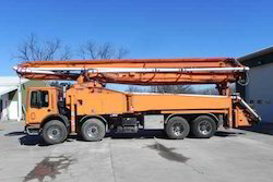 Truck Mounted Concrete Boom Pump On Lease