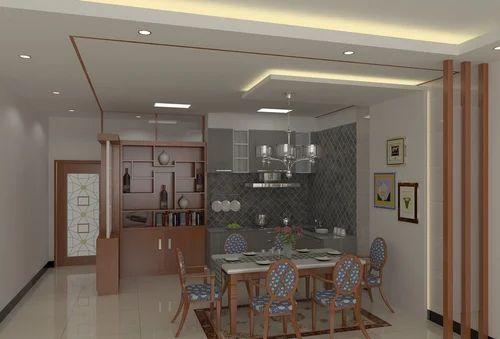 dining hall designing, interior design - sas builders, chennai | id