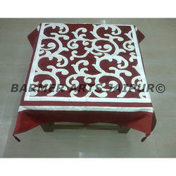 Designer Table Cover Cut Work Velvet
