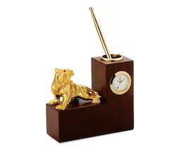 Desk Clock with Pen Stand