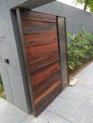 Silver Polished Corten Steel door, For Office