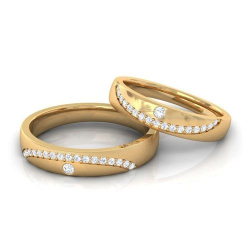 36c7d9c982 Partywear Women Couple Real Diamond Wedding Band 10k Yellow Gold, Rs ...