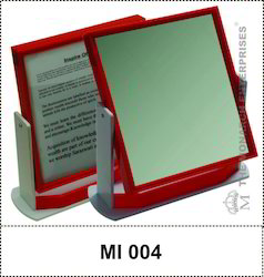 Red Color Acrylic Table Top Square Mirror