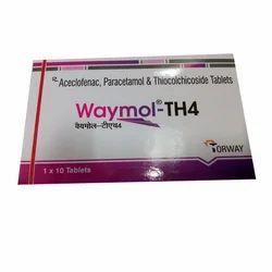 Aceclofenac, Paracetamol & Thiocolchicoside Tablets