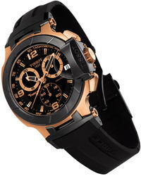 Tissot Chronograph Black Rubber Watch