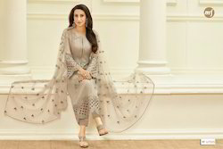 Designer Straight Churidar Suit