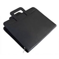 Black Leather Conference Folders