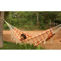 Fabric Hammock with Fringes-Large Size