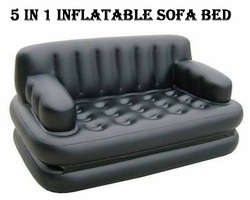 5 In 1 Black Inflatable Sofa Bed