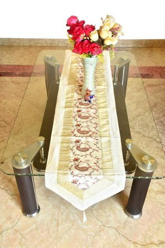 Traditional Design Table Cloth Designer Indian Silk