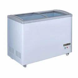 Double Door Off White Commercial Chest Freezer