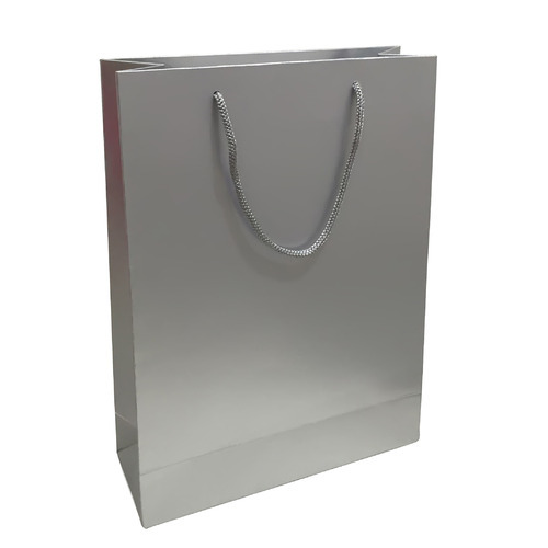 silver paper bag solid metalic rs 25 piece aspen india id