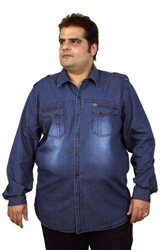 xmex plus size men denim shirts at rs 2195 /piece   bandra west