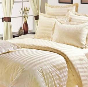 Lovely White Satin Stripes Bed Sheet