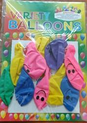 Variety Smiley Balloons Pack Of 10