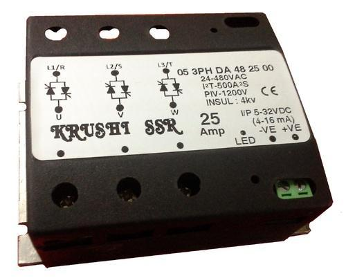 3 Phase Solid State Relay DC to AC 25Amp 3Phase MCB Type Solid