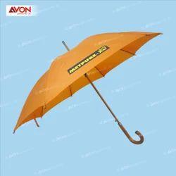 Orange Wooden Umbrella