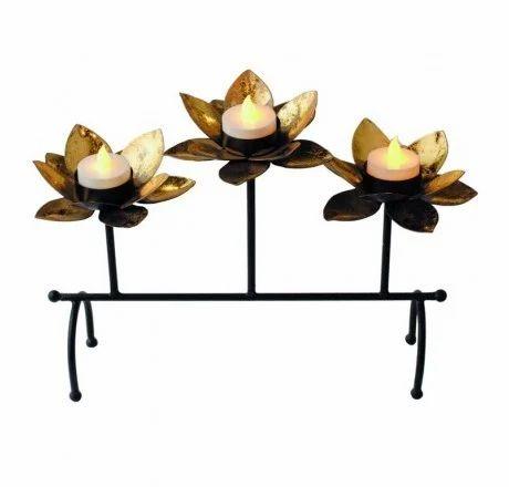 Lotus Flower Candle Holder At Rs 750 Set Metal Diya Handicraft