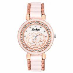 Rose Gold LA Stella Golden Wrist Watch, Model: LS1144SL01