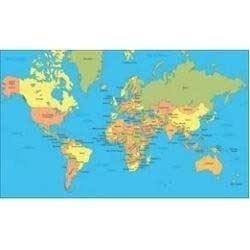 Political world map goyal scientific optical works political world map gumiabroncs Images