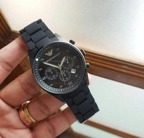 177a78aa2c7 Black Stainless Steel Emporio Armani Watch