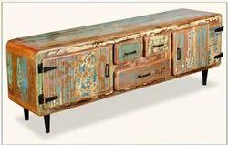 Rustic TV Cabinet   Rustic Furniture India