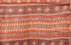 Hand Block Printed Tussar Silk Saree