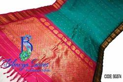 Standardised Real Zari Gold Gadwal Silk Ganga Jamuna