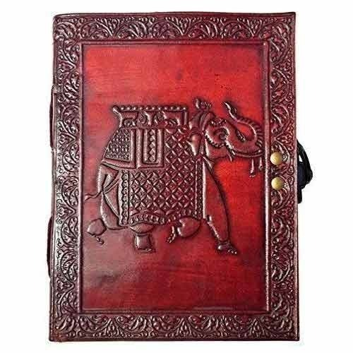 Elephant Embossed Leather Journal